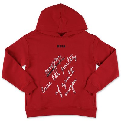 MSGM red cotton hoodie