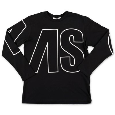 MSGM black logo detail cotton jersey t-shirt