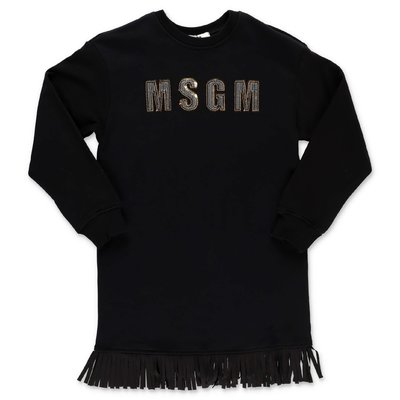 MSGM logo black cotton sweatdress