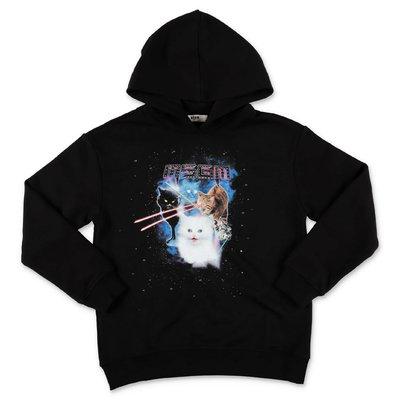 MSGM black cotton hoodie