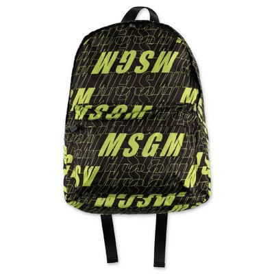MSGM logo black nylon backpack