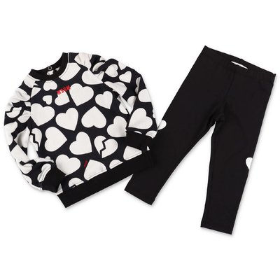 MSGM black & white sweatshirt & leggings set