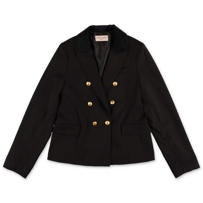 Alberta Ferretti black techno fabric jacket