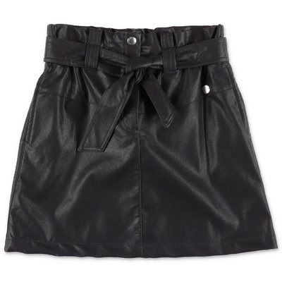 Alberta Ferretti black faux leather skirt