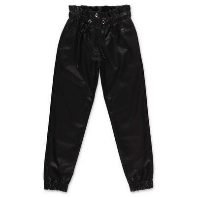Alberta Ferretti black faux leather pants