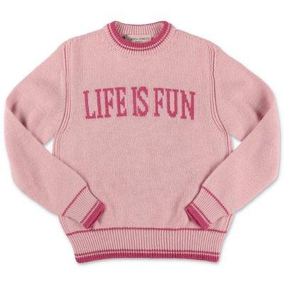 Alberta Ferretti pink knit jumper