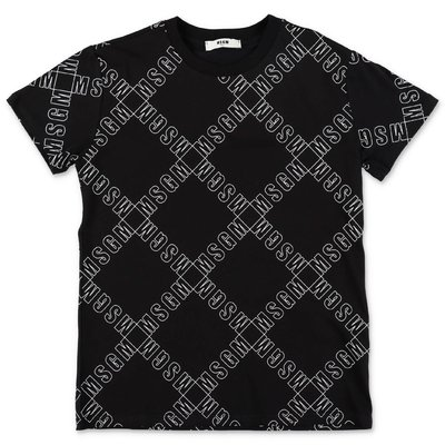 MSGM black logo detail cotton jersey t-shirt
