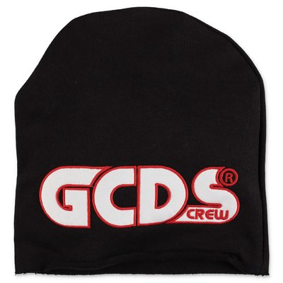 GCDS black cotton sweat cap