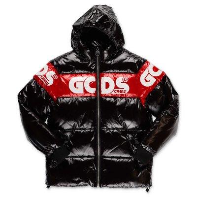 GCDS black nylon down jacket