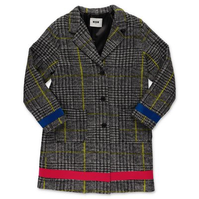 MSGM wool Prince of Wales coat