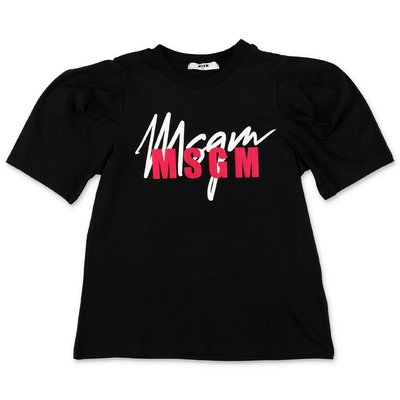 MSGM logo black cotton jersey t-shirt