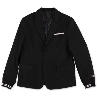 Neil Barrett black gabardine jacket