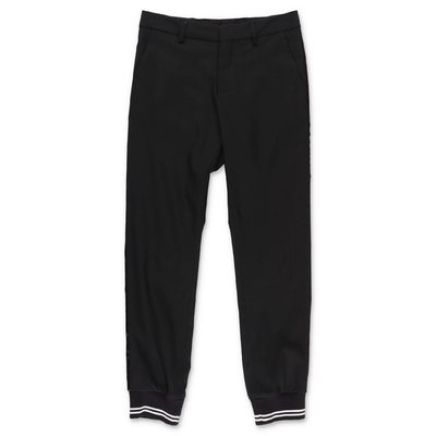 Neil Barrett black gabardine pants