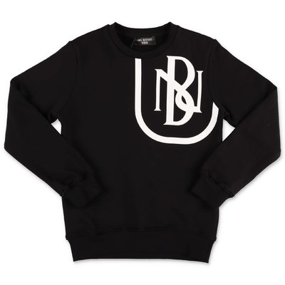 Neil Barrett black cotton sweatshirt