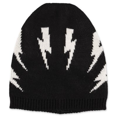 Neil Barrett black knit cap