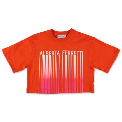Alberta Ferretti orange cotton jersey t-shirt