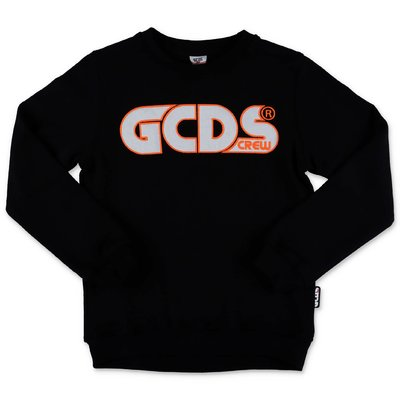 GCDS black cotton sweatshirt