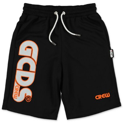 GCDS black nylon shorts