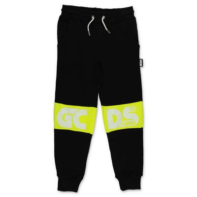 GCDS black cotton sweatpants