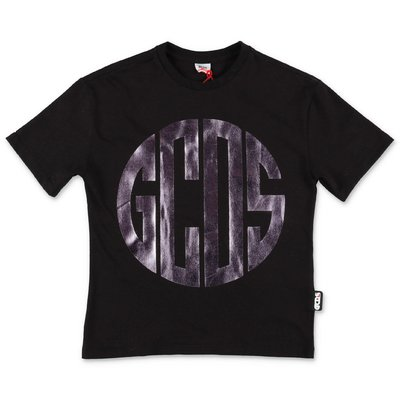 GCDS black cotton jersey t-shirt
