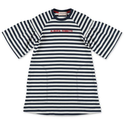 Alberta Ferretti striped cotton t-shirt dress