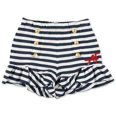 Alberta Ferretti striped cotton sweat shorts