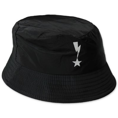 Neil Barrett black nylon cloche hat