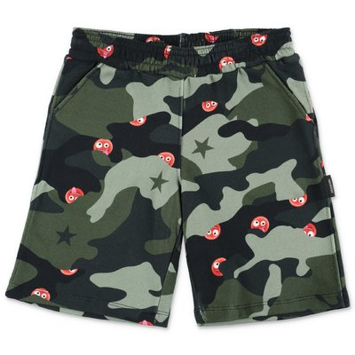 Neil Barrett camouflage cotton sweat shorts