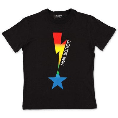 Neil Barrett t-shirt nera in jersey di cotone