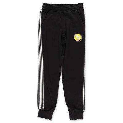 Neil Barrett pantaloni neri in felpa di cotone