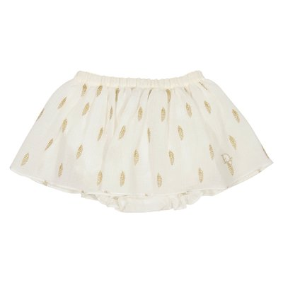 Cotton skirt with culotte