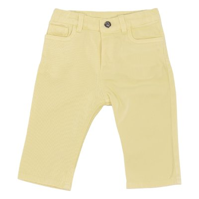 Yellow stretch cotton denim jeans