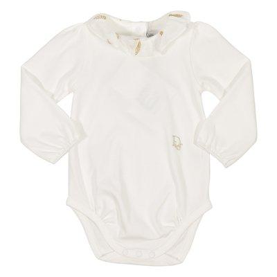 Body bianco in jersey di cotone
