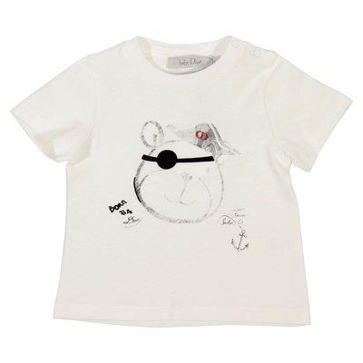 아기 디올 코튼 저지 티셔츠