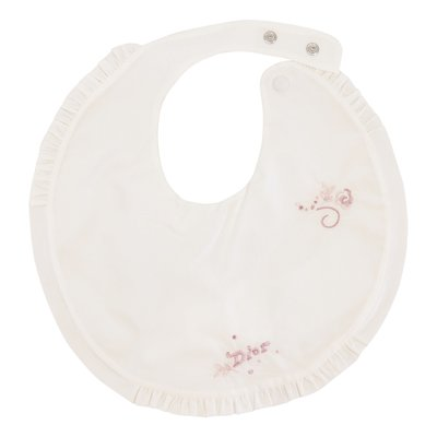 Baby Dior white cotton bib