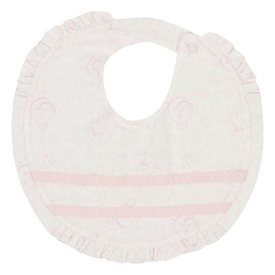 Bear print cotton bib