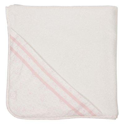 Accappatoio bianco in spugna di cotone con cappuccio