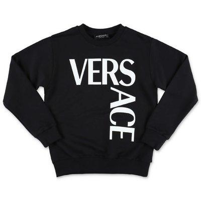 قميص من القطن الأسود YOUNG VERSACE