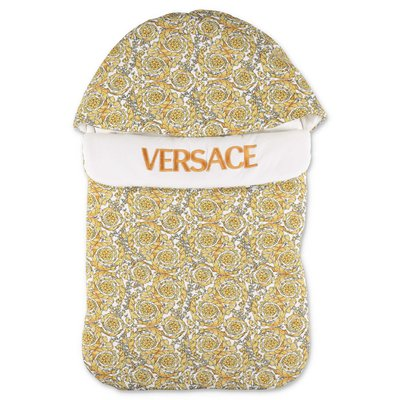 YOUNG VERSACE baroque print cotton sleeping bag