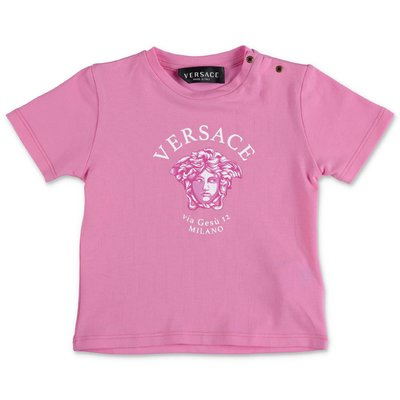 YOUNG VERSACE pink cotton jersey t-shirt