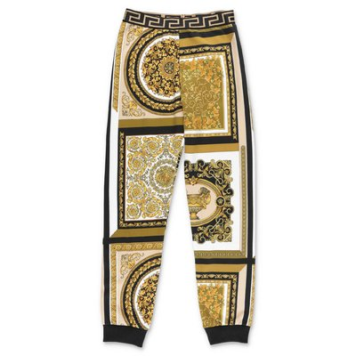 YOUNG VERSACE baroque print cotton sweatpants