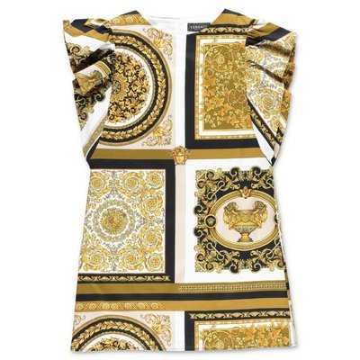 Young Versace baroque print cotton poplin dress