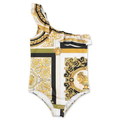 Young Versace baroque print nylon swimsuit