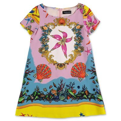 YOUNG VERSACE printed viscose dress