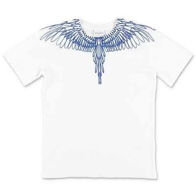 Marcelo Burlon t-shirt bianca in jersey di cotone