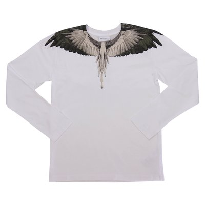 Marcelo Burlon t-shirt bianca ''Wings'' in jersey di cotone