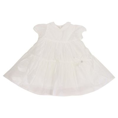 Simonetta white cotton blend flared dress