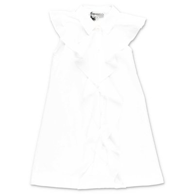 Simonetta white cotton poplin chemisier dress