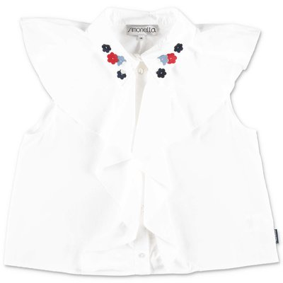 Simonetta white cotton poplin blouse