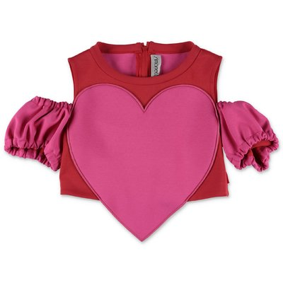 SIMONETTA red stretch jersey top with heart